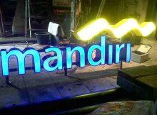 pembuatan huruf timbul LED