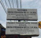 Plang Papan Nama Notaris